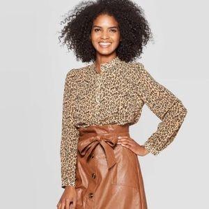 Who What Wear Leopard 🐆 Blouse